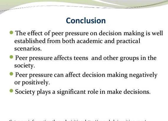 effects of peer pressure 2 essay