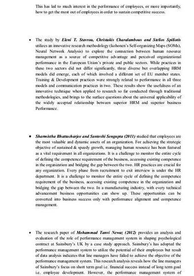research thesis on performance management 195 table 37 summary of key influences of performance measurement and performance management processes from the cases interpreted with the literature 211 table 38 thesis response to the research questions in the light of existing research 230 table 39 summary of conceptual implications of the thesis.