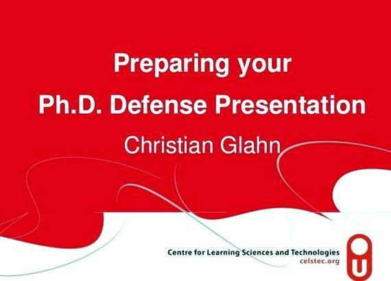 phd dissertation defense powerpoint Prepare powerpoint slides by using information in the dissertation's first chapter (which actually is the overview of the dissertation) as a framework or outline that reflects the logical sequencing of information.