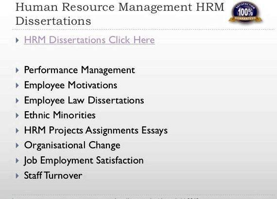 Master thesis in human resource management