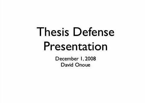 Phd thesis search presentation