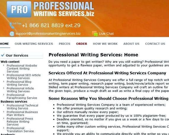 Professionals writing papers