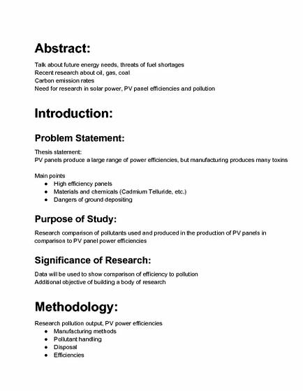 Argument essay research paper outline samples APA Style Sample Papers th  and th edition how write