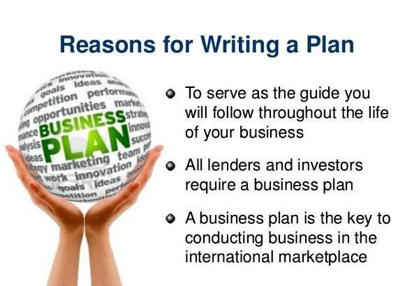 Reason for writing business plan action points with