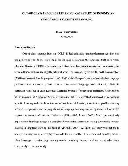 Sample literature thesis proposal