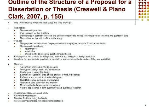 dissertation proposal outline mixed methods Getting started with your dissertation proposal ip 700 webinar 1  it is all about  ensuring quality of each section and consistency across sections outline 1   research design: qualitative, quantitative, and mixed methods.