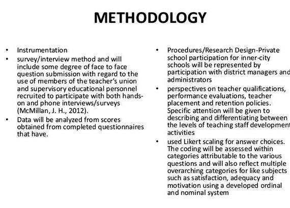 Dissertation methodology example