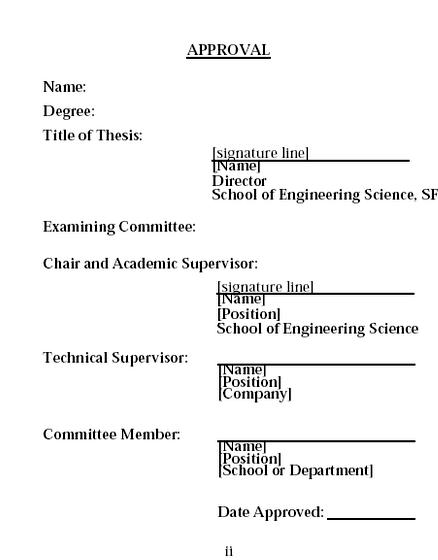 Thesis reference page sample