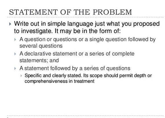 thesis problem statement purpose