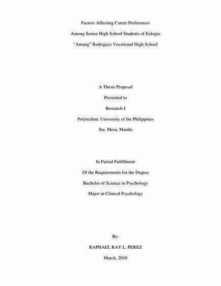 Sample Tourism Thesis Title Proposal On Education