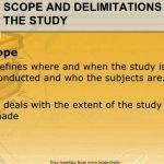 scope and delimitation sample research