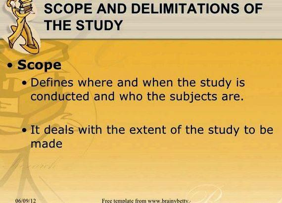 What is scope of work in thesis
