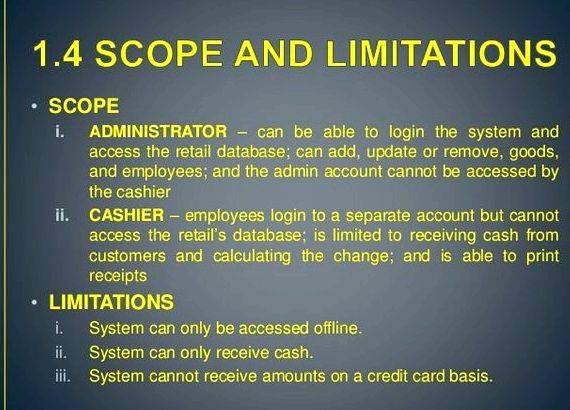 scope and delimitation internet cafe Transcript of scope and limitations of the study scope and delimitation • the system requires internet connection.