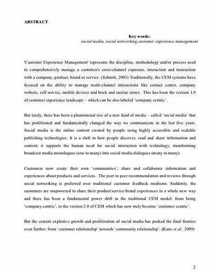 Thesis paper for sale about social media
