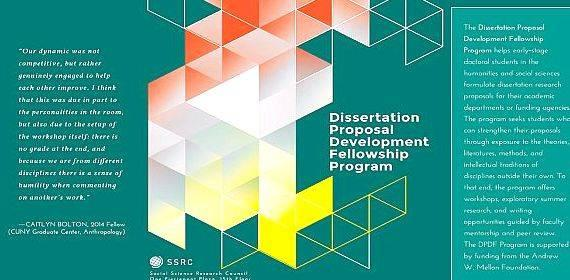 Social science research council dissertation proposal development fellowship developing academic networks that
