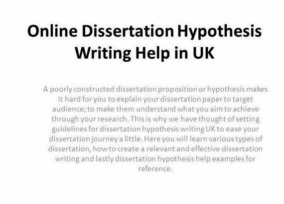 Dissertation write jobs hypothesis