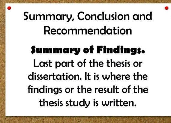 Dissertation discussion of findings