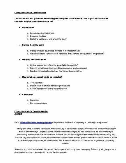 write thesis proposal computer science How to memorize an essay write phd thesis proposal computer science an essay about best friends complete essay.