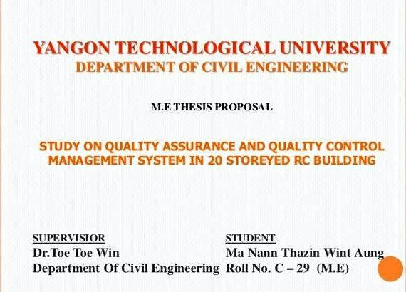 thesis civil engineering 1 developing graduate research proposals and completing a graduate project/thesis/dissertation bruce thomson, phd, pe professor emeritus civil engineering.