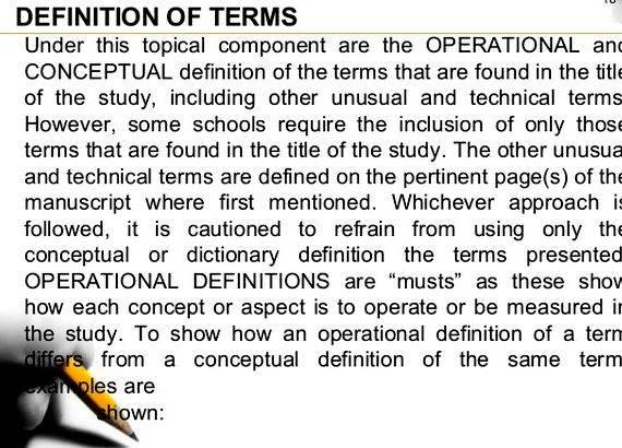 Other Education Terms