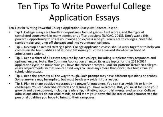 Help on college essays