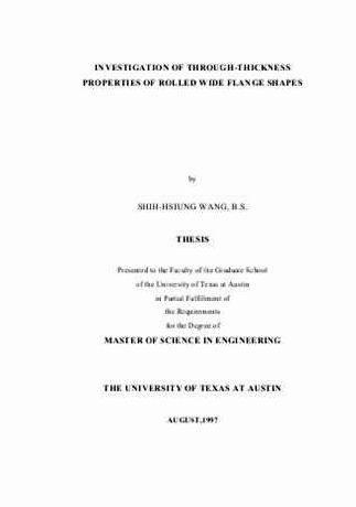 engineering thesis proposal Dissertation proposal defense (oral examination) before taking the examination, the student must have filed the plan of work and the petition for doctoral candidacy (available on the.
