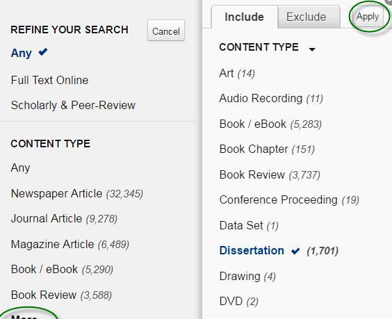 phd . dissertations database