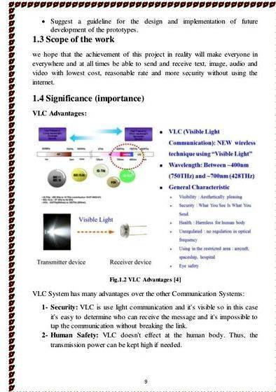 Visible light communication frequency