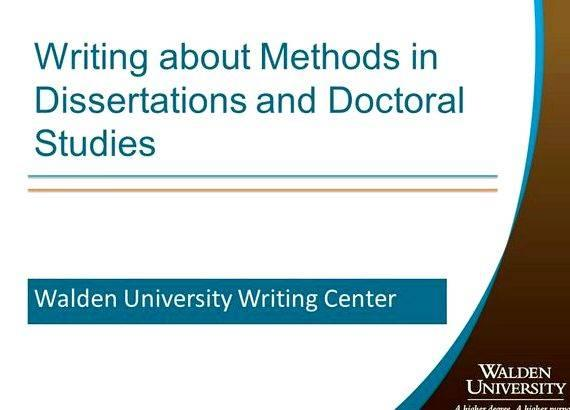 dissertations from walden university Walden university college of social and behavioral sciences this is to certify that the doctoral dissertation by phillip neely has been found to be complete and.