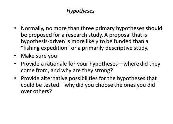 Write my dissertation hypothesis example
