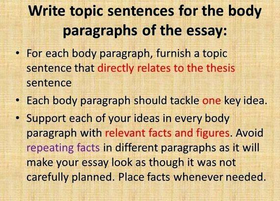 Abstract terms definition essay