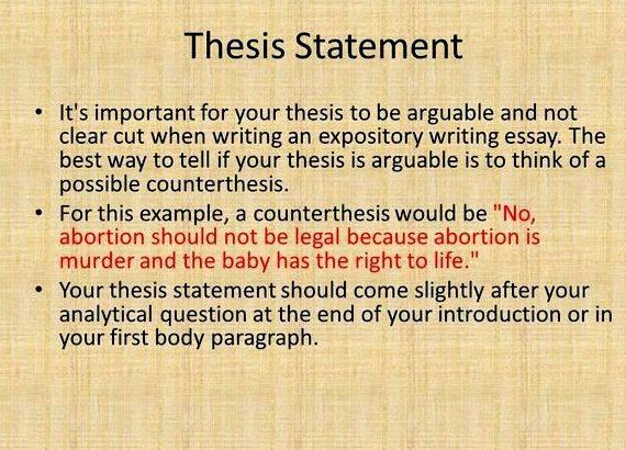 thesis in writing
