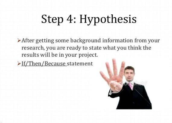 how to write an hypothesis for a science fair project