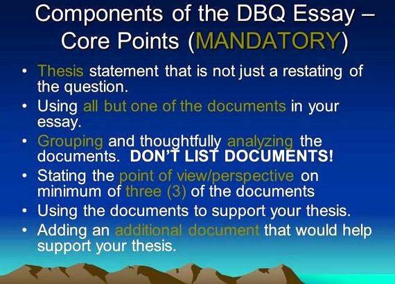 Dbq Thesis Statement