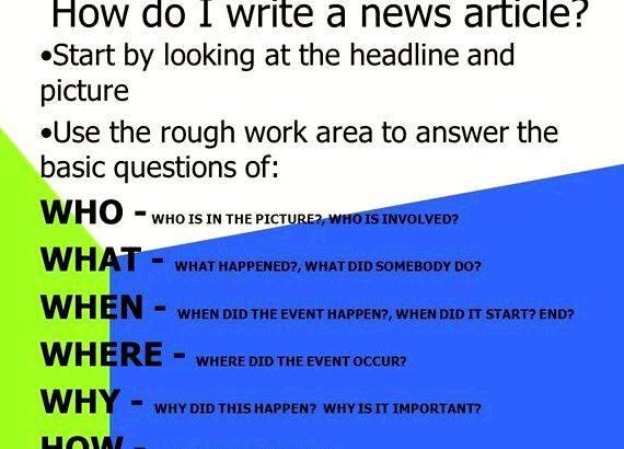 Writing a news article ppt presentation You are giving facts only