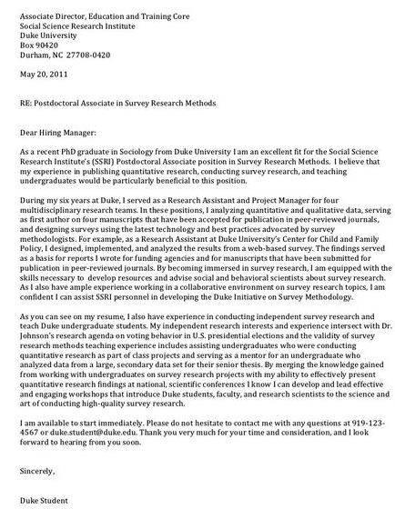 Cover letter for chemistry postdoc