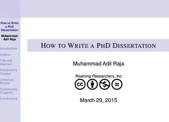 Write my phd dissertation