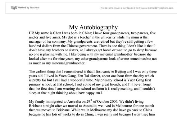 Writing my autobiography essay scholarship essay as unicef