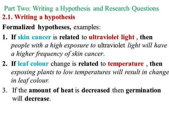 How To Write Hypothesis In Research