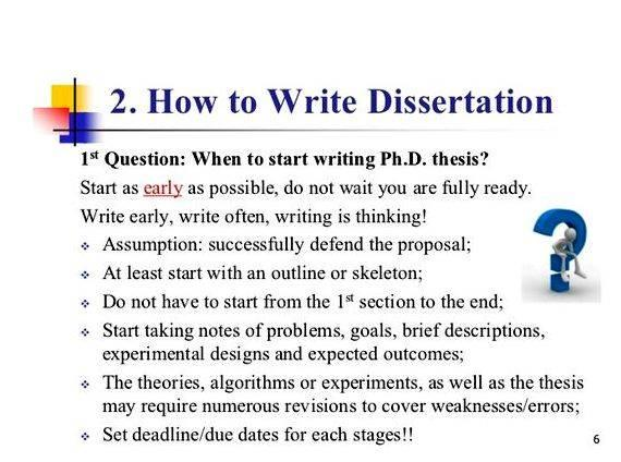 Writing A Good Dissertation Proposal