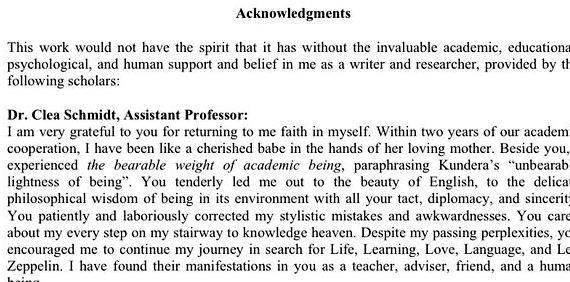 Writing dissertation dedication
