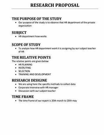 Phd proposal thesis
