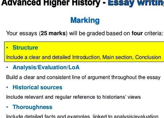 Higher history essay help