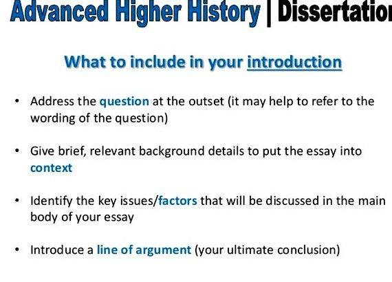 History dissertation writing