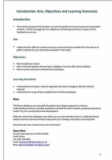 Aims and objectives in thesis writing objectives from