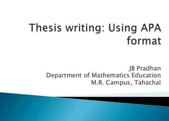 Apa style of writing dissertation style is most generally