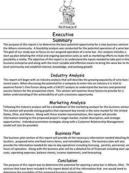 Article plan standard business plan outline writing you want to pay back