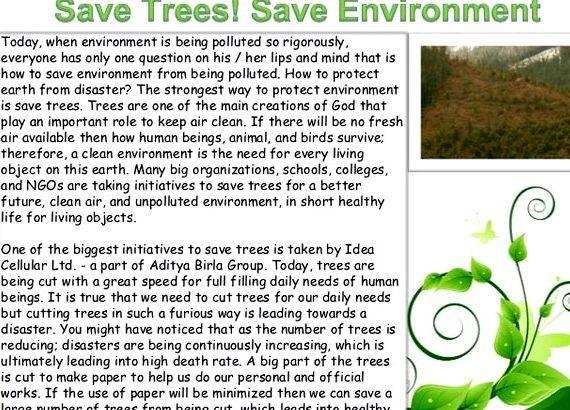 Article writing on save environment photos not to mention