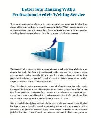 article service
