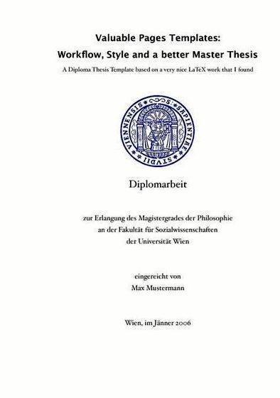 Master thesis vs dissertation